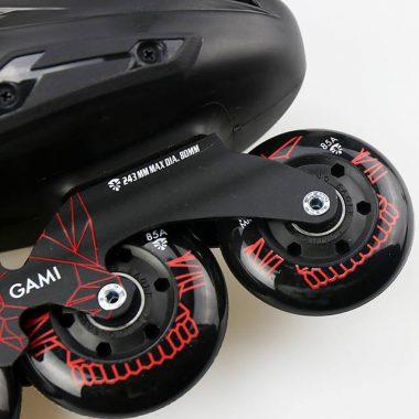 Giày Patin Flying Eagle B5S black | Bánh xe đàn hồi ổn định