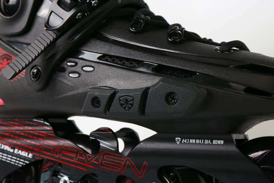 Giày Patin Flying Eagle F4 Raven | Miếng chống trầy bảo vệ thân giày