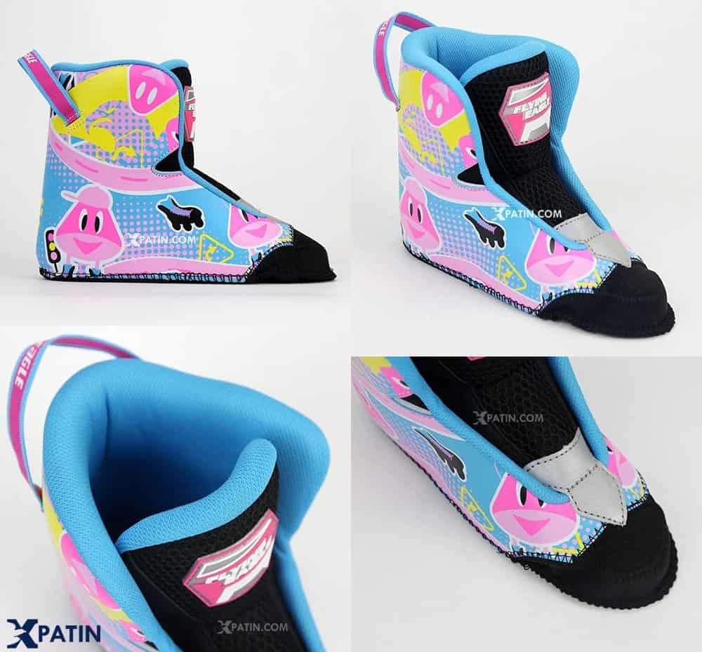 Giày Patin Flying Eagle NT Combo | Boot (lót trong) co dãn vừa vặn bàn chân và có thể tháo rời