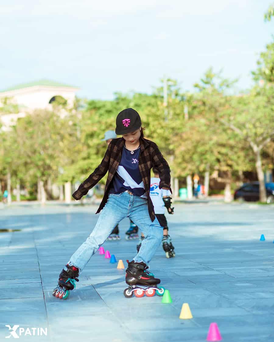 Khởi động trước khi trượt patin