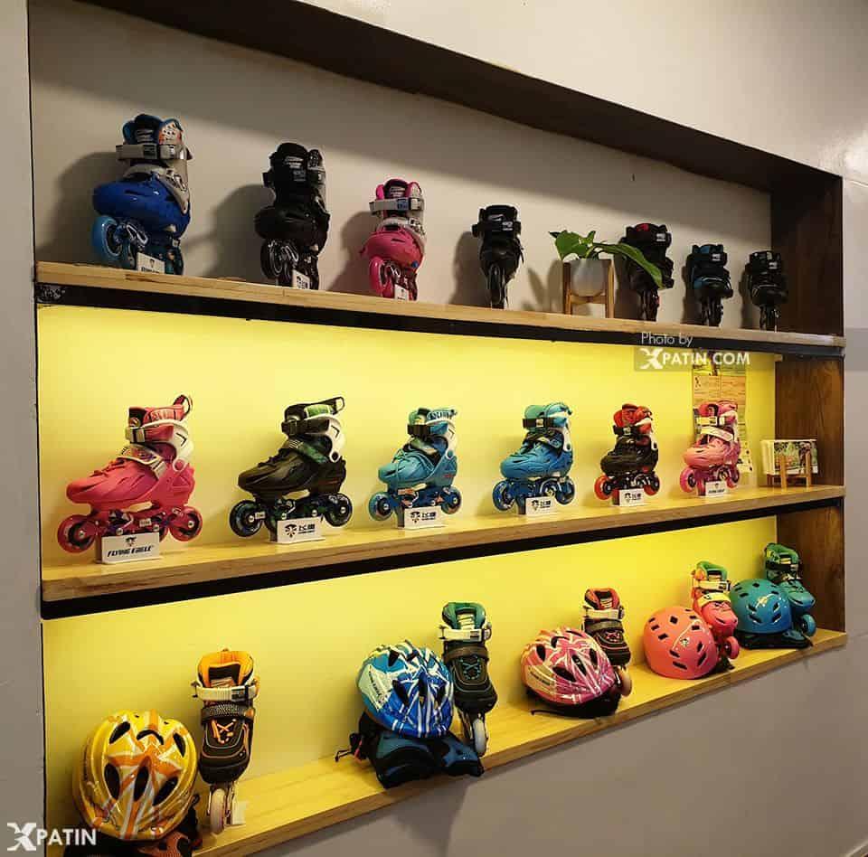 Một số mẫu giày patin trẻ em chất lượng được trưng bày