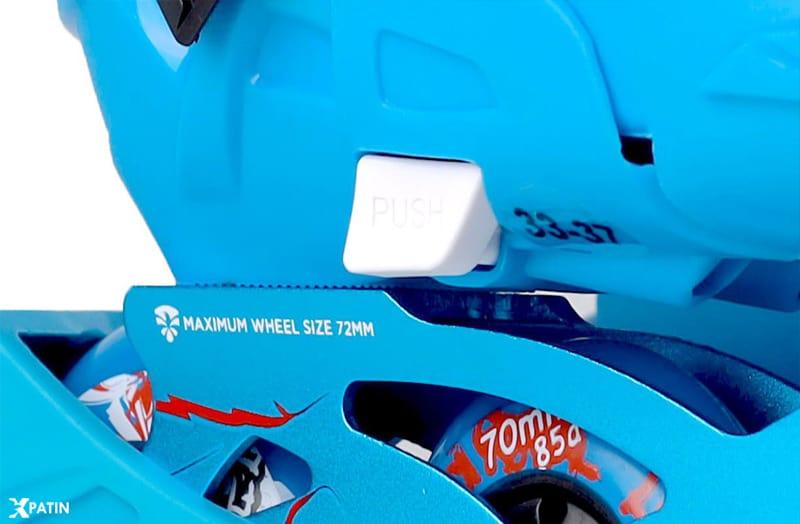 Giày Patin Flying Eagle S5S+ | Chỉnh size dễ dàng chỉ với thao tác ấn 'PUSH' và kéo