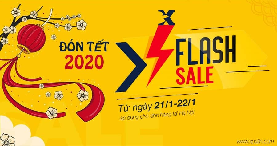 Banner tết flash sale post
