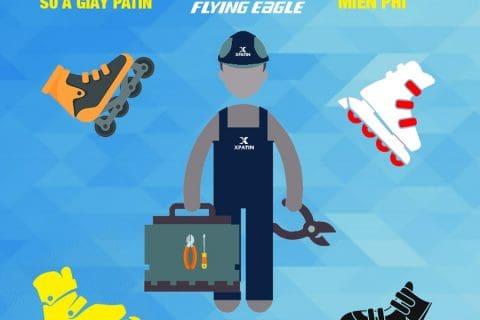 Xpatin sửa chữa giày patin Flying Eagle miễn phí