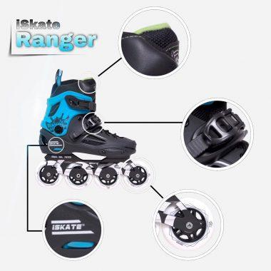 Chi tiết cấu tạo giày patin iSkate Ranger
