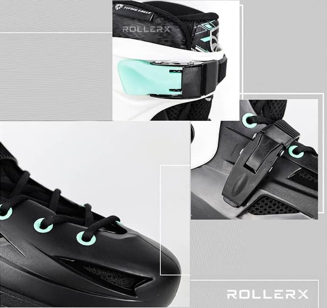 Khóa giày patin F1S+ gồm 2 khoá chính Khoá cổ và khoá thân